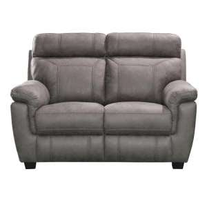 Colyton Fabric Two Seater Sofa In Grey Finish