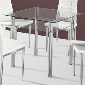 Callisto Clear Glass Dining Table Only