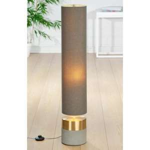 Concreto Floor Lamp In Gold And Grey