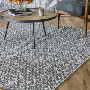 Connast Fabric Rug In Charcoal