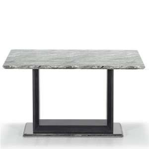 Connor Marble Dining Table Small In Grey With High Gloss Base
