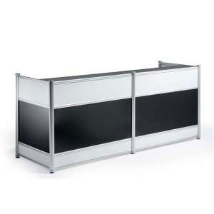 Harsh Contemporary Wooden Reception Desk In High Gloss Black