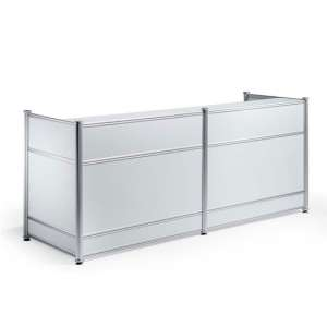 Harsh Contemporary Wooden Reception Desk In High Gloss White