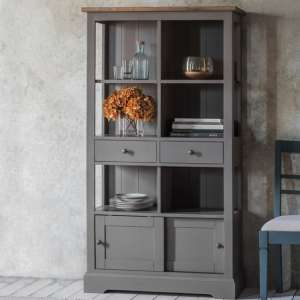 Cookham Wooden Bookcase In Grey