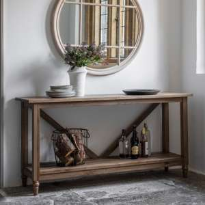 Cookham Wooden Trestle Side Table In Oak