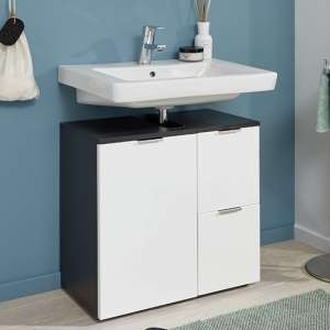 Coone Vanity Unit In Graphite And White High Gloss