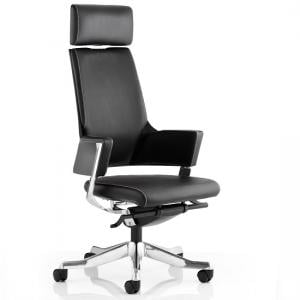 Cooper Office Chair In Black Bonded Leather With High Back