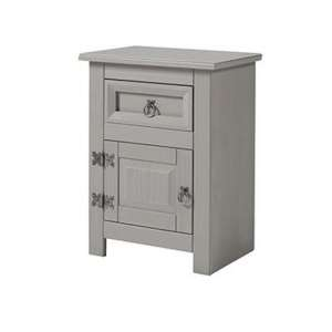 Corina Compact Glass Top Bedside Cabinet With 1 Door 1 Drawer