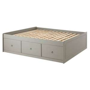 Corina Double Size Cabin Bed With Grey Washed Wax Finish