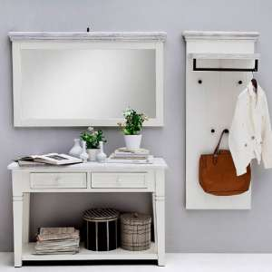 Corrin Wooden Hallway Furniture Set In White