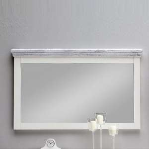 Corrin Wooden Large Wall Mirror Rectangular In White