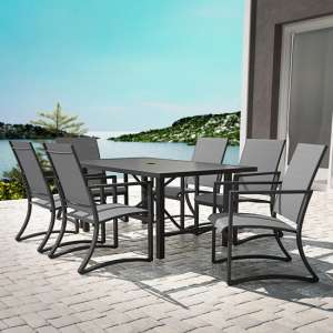 Cosco Outdoor Paloma Outdoor Metal Dining Set In Charcoal Grey