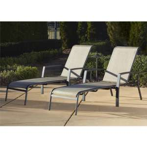 Cosco Outdoor Serene Ridge Sun Chaise Lounger Set In Dark Grey