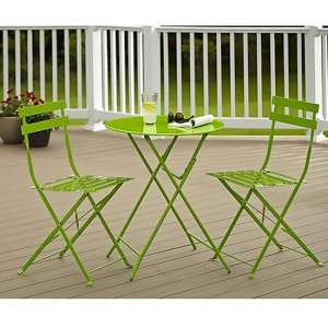 Cosco Steel Set Of 3 Bistro Patio Set In Green