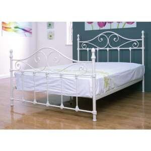 Cotswold Metal Double Bed In Ivory