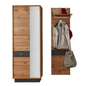 Coyco LED Hallway Furniture Set 10 In Wotan Oak And Grey