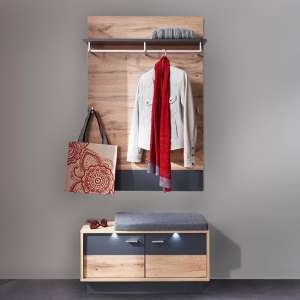 Coyco LED Hallway Furniture Set 5 In Wotan Oak And Grey