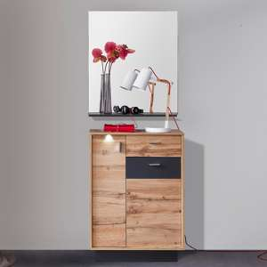 Coyco LED Hallway Furniture Set 6 In Wotan Oak And Grey