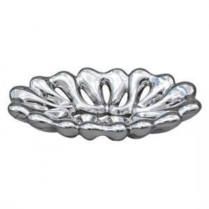 Platinum Perforated Oval Bowl