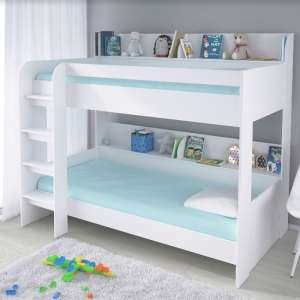 Creston Contemporary Bunk Bed In White
