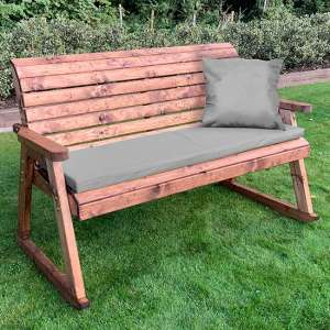 Crimi 3 Seater Rocking Bench With Grey Cushion