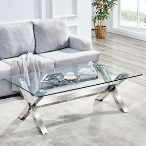 Crossley Rectangular Coffee Table In Clear Glass