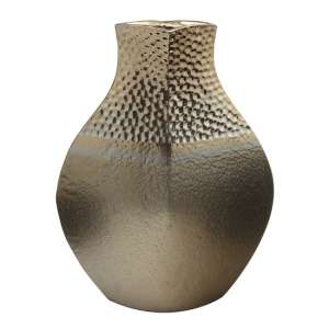 Cuprano Ceramic Medium Decorative Pot Vase In Copper