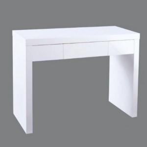 Curio Dressing Table In White High Gloss With 1 Drawer