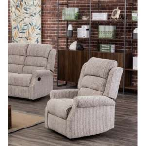 Curtis Fabric Recliner Sofa Chair In Natural
