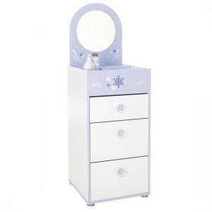 Curtis Chest Of Drawers In Pearl White Blue Trims With Mirror_2