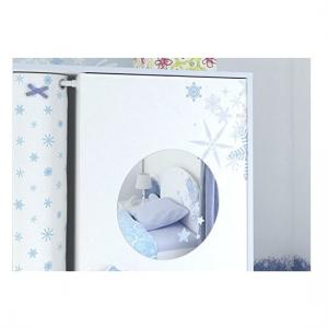 Curtis Wardrobe In Pearl White With Blue Trims And Curtain_4