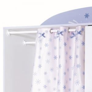 Curtis Wardrobe In Pearl White With Blue Trims And Curtain_5