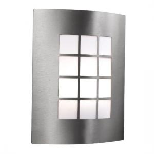 Curved Stainless Steel Outdoor Wall Light