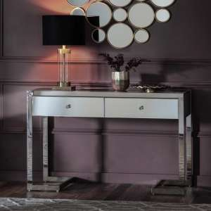Cutler Mirrored Console Table With 2 Drawers