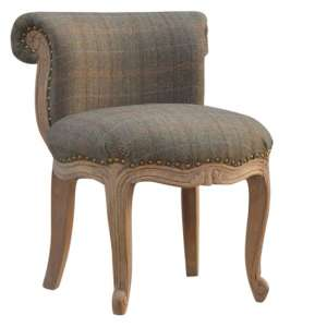 Cuzco Fabric Accent Chair In Multi Tweed And Sunbleach