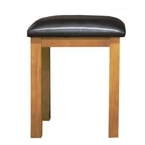 Cyprian Wooden Dressing Table Stool In Chunky Pine
