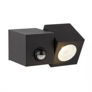 Dallas Outdoor 1 Light Cube LED Wall Bracket In Black