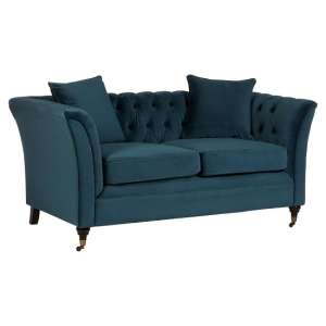 Dartford Modern 2 Seater Sofa In Midnight Blue