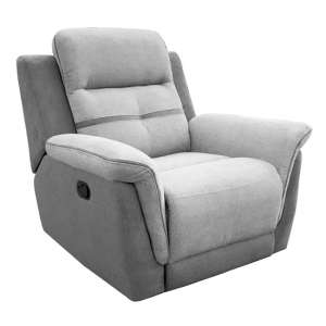 Dawson Fabric Recliner 1 Seater Sofa In Grey