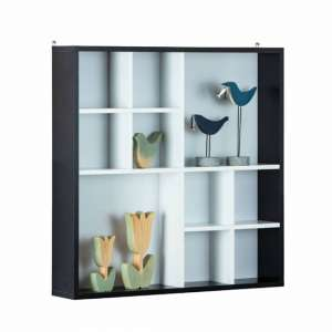 Decem Wooden Display Cabinet In Noir