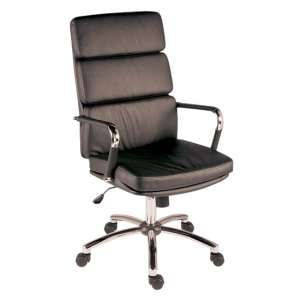 Deco Retro Eames Style Executive Office Chair In Black