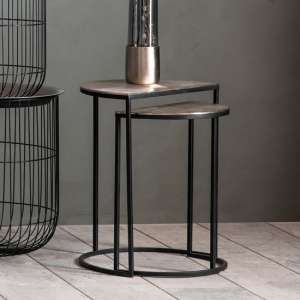 Delfin Set Of 2 Side Tables In Black