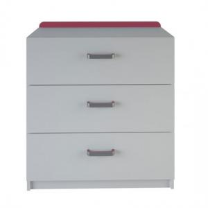 Delphi Chest Of Drawers In Pearl White With 3 Drawers_3