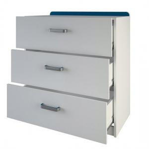 Delphi Chest Of Drawers In Pearl White With 3 Drawers_2