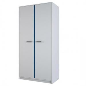 Delphi Wooden Wardrobe In Pearl White With 2 Doors_2