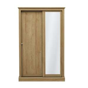 Devon Wooden Sliding Wardrobe In Oak With 2 Doors