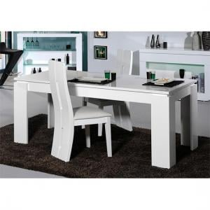 Fiesta Extendable Dining Table In High Gloss White
