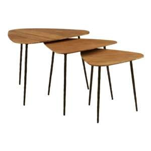 Diphda Set Of 3 Triangular Nesting Tables In Brown