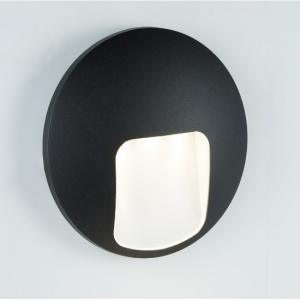 Outdoor 1 Light Disc LED Wall Bracket In Black