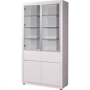 Fino Gloss White Tall 4 Door Display Cabinet